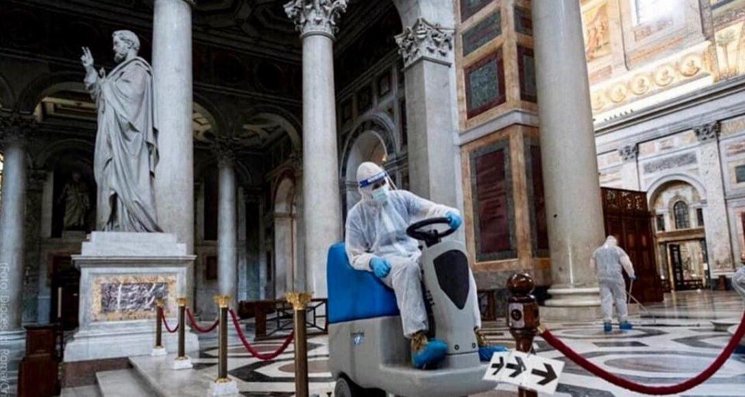 bspfm, sanificazione della basilica